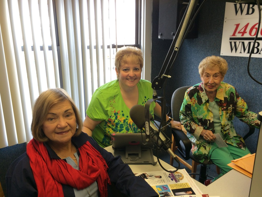 Norma Kehr, Rhonda Ficca and Claire Mervis talking with 1230 WBVP-1460 WMBA Talk Show Host John Nuzzo about the upcoming 2014-15 season