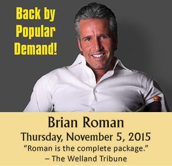 Brian Roman Performing On Thursday, November 5, 2015