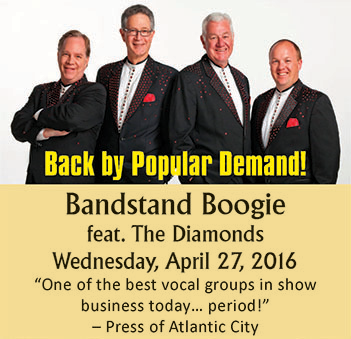 Bandstand Boogie Featuring The Diamonds Performing On Wednesday, April 27, 2016