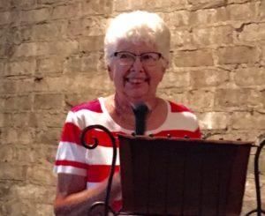 Peg Denhart at the Kick off Luncheon 8/7/16
